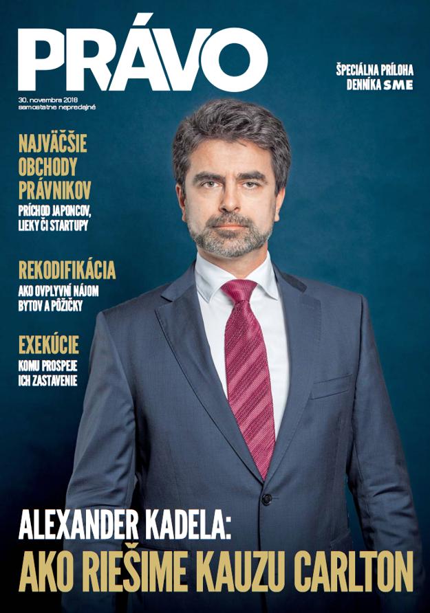 Titulná strana magazínu Právo, 30. 11. 2018.