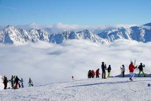Lyžiarske stredisko Sölden, Rakúsko.