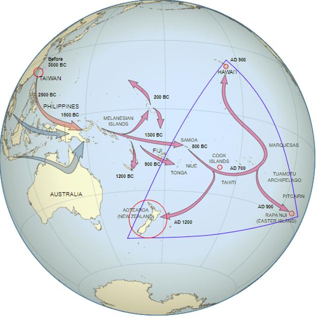 Putovanie Polynézanov zostrova Taiwan až na Havajské ostrovy.