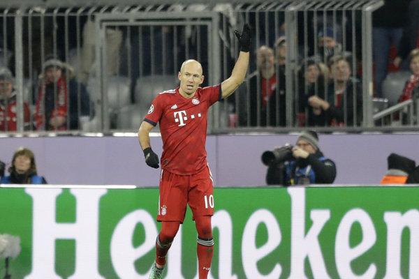 Holandský futbalista Arjen Robben.