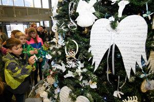 Vianočné trhovisko na Trenčianskej župe.