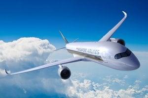 8. Airbus A350-900 má cenníkovú cenu 317,4 milióna eur.