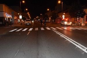 Miesto, kde sa odohrala dopravná nehoda.