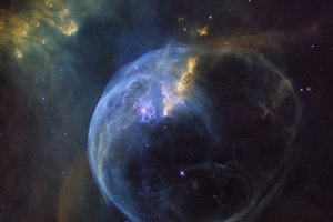 Bublinová hmlovina NGC 7635.