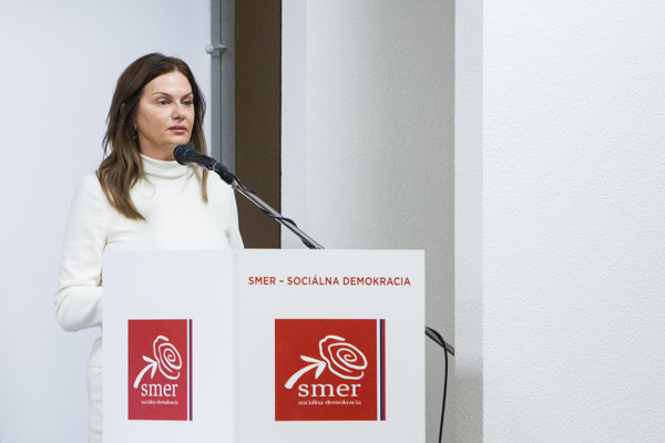 Europoslankyňa za stranu Smer Monika Beňová.