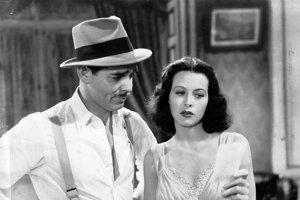 Clark Gable a Hedy Lamarr vo filme Comrade X (1940)