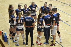Na snímke tím VK Prešov