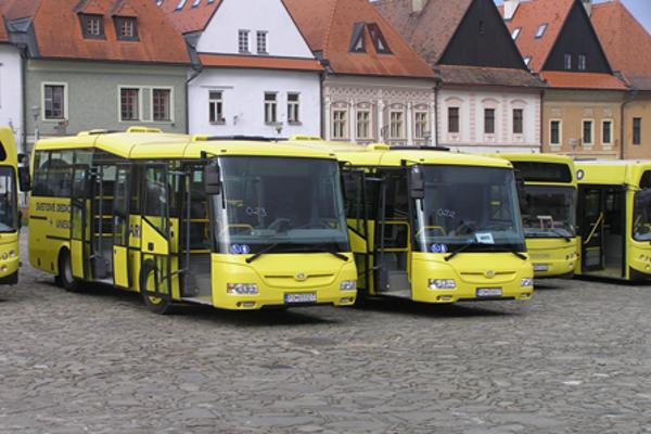 Mestská autobusová doprava v Bardejove.