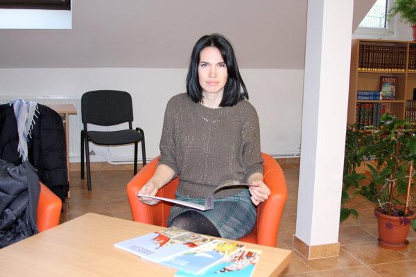Lucia Chocholáčková robí originálne maľovanky miest pre deti. (FOTO: MH)
