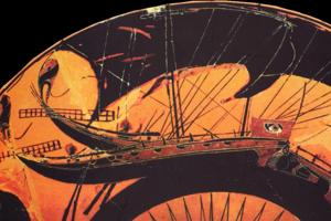 Ilustračné foto. Maľba antickej gréckej lode.