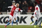 Miroslav Stoch (vľavo) sa teší zo svojho gólu.
