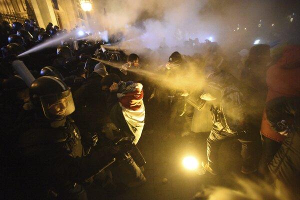 Protesty v Maďarsku.