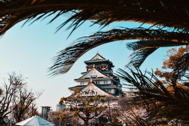Hrad je hlavná dominanta Osaky