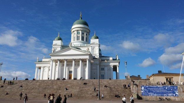 Katedrála v Helsinkách, Fínsko.