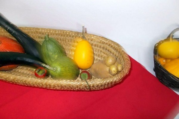 Seniori usporiadali aj mini výstavku svojej úrody.