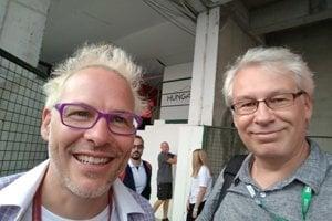 Jacques Villeneuve a Ľuboš Kašický.
