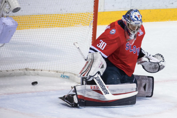Jakub Štěpánek, brankár HC Slovan Bratislava.