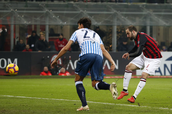Opustí Gonzalo Higuaín (vpravo) AC Miláno?