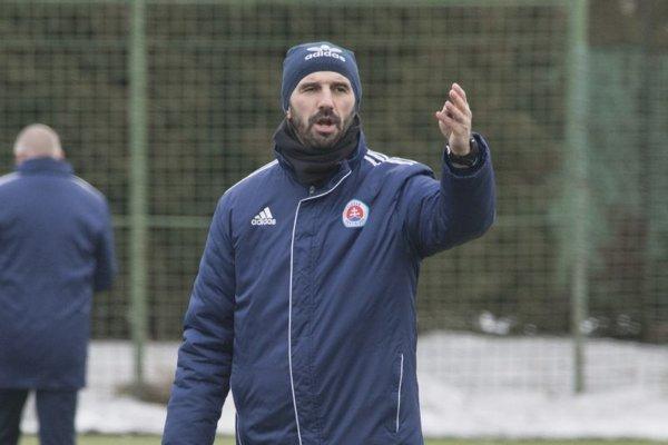 Tréner Martin Ševela.