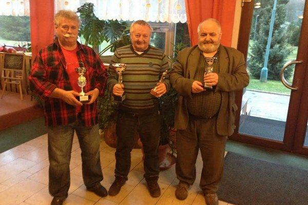Zľava: Vladimír Prislupský, v strede: Vladimír Šimalčík, vpravo: Jan Rešutík
