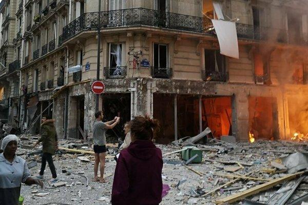 Zničená pekáreň.
