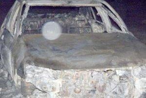 Auto našli úplne zhorené.