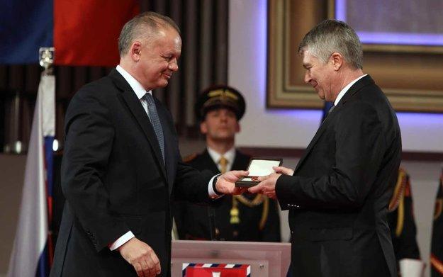 Ocenený Gyula Zalabai.