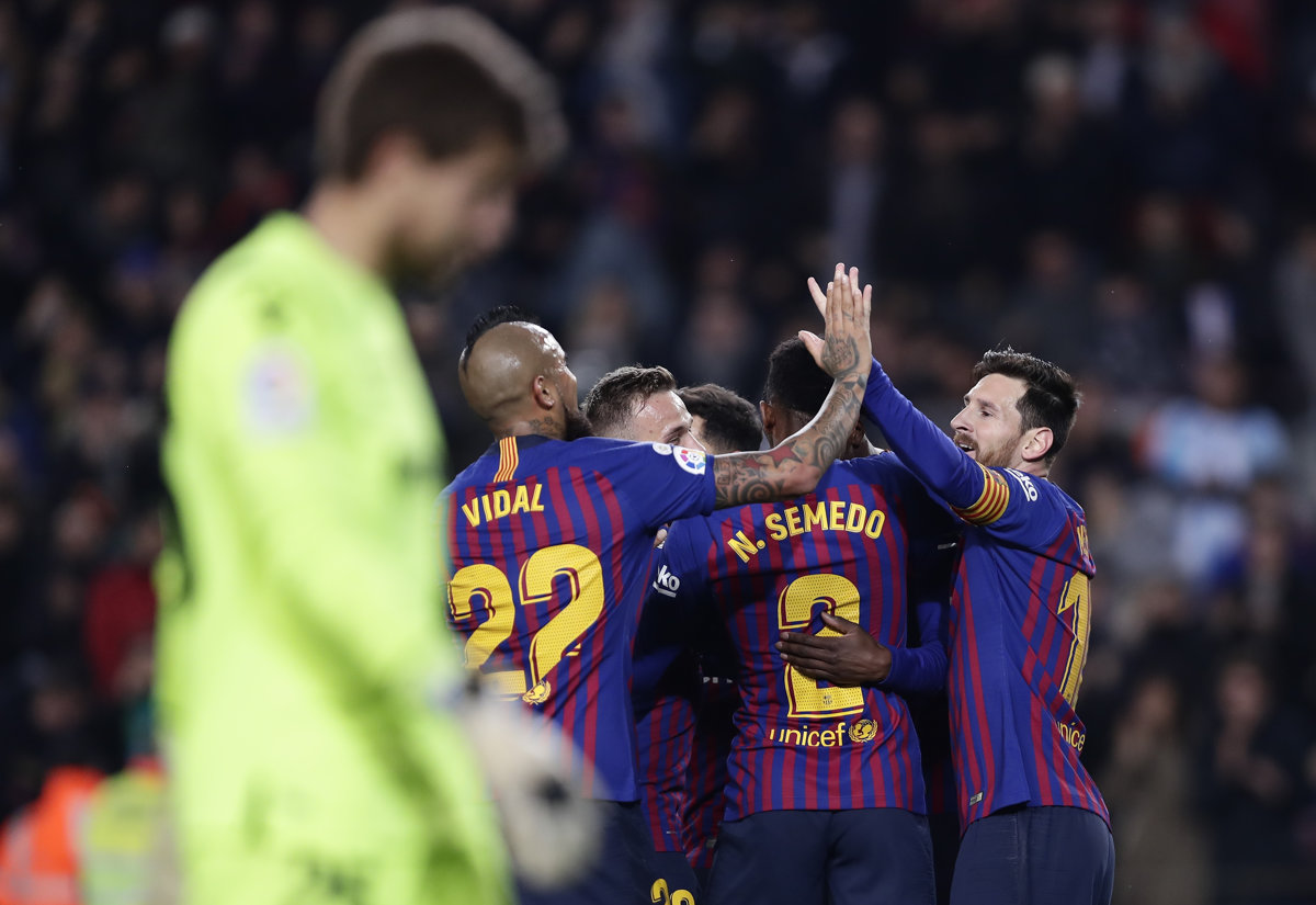 edb64fb4ed745 Futbalisti FC Barcelona postúpili ďalej po víťazstve 3:0 nad Levante v  domácej odvete.
