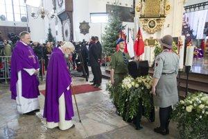 Rozlúčka so zavraždeným starostom mesta Gdansk.