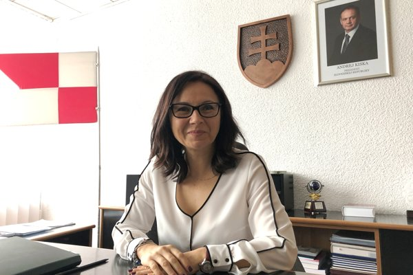 Primátorka Svidníka Marcela Ivančová.