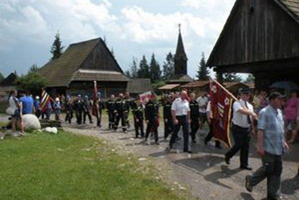 V Pribyline sa stretli aj hasičské  družstvá piatich hornoliptovských obcí.
