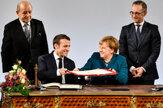 Merkelová a Macron podpísali novú zmluvu o priateľstve