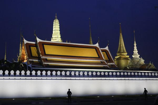 Kráľovskm palác Grand Palace v Bangkoku.
