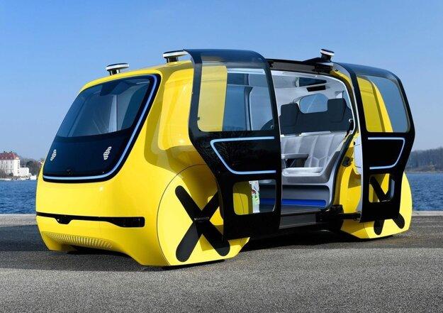 Koncept autonómneho vozidla Volkswagen Sedric.