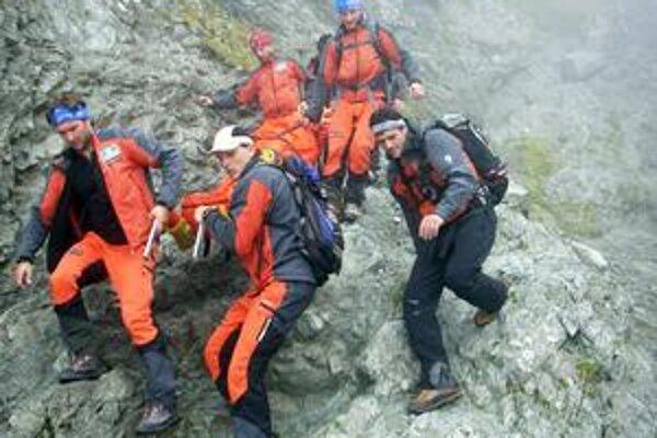 Turistu našli záchranári v Žiarskom sedle.