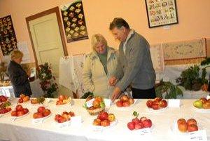 Na výstave nechýbali rôzne odrody jabĺk.