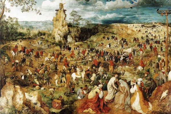 Na Bratislavskom hrade visel aj Bruegelov obraz Nesenie kríža z roku 1564.