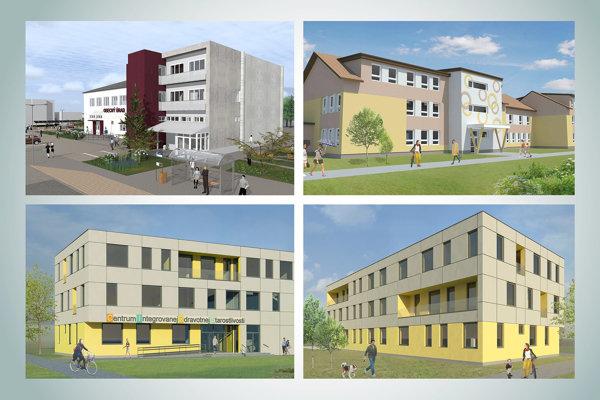 Návrh nového zdravotného strediska v dedine.