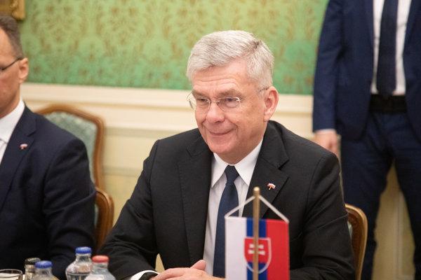 Predseda Senátu Poľskej republiky Stanislaw Karczewski počas prijatia predsedom vlády SR na Úrade vlády SR. Bratislava, 29. január 2019.