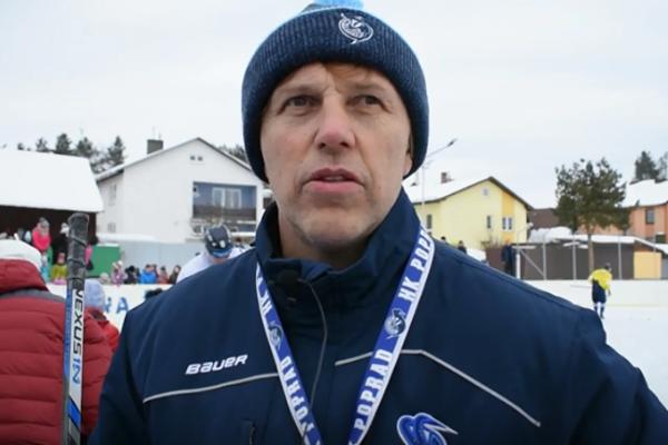 Tréner Popradčanov Roman Stantien.