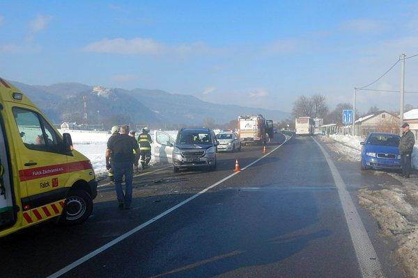 Po nehode pri Považskej Teplej.