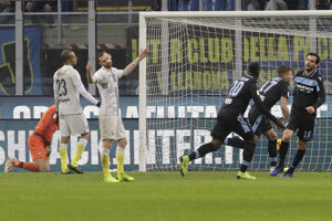 Momentka zo zápasu Inter Miláno - Lazio Rím.