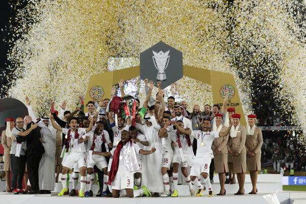 Futbalisti Kataru sa tešia z triumfu na Ázijskom pohári 2019.