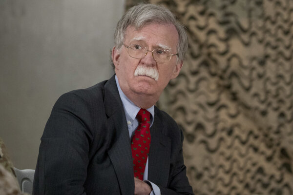 Poradca amerického prezidenta pre národnú bezpečnosť John Bolton.