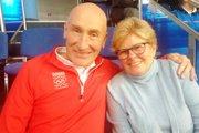 Craig Ramsay s manželkou Susan v hľadisku daviscupového zápasu Slovensko – Kanada.