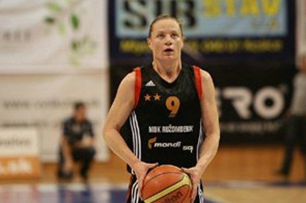 Slávka Bučáková. Basketbalistka spoločne s Luciou Láskovou ukončila aktívnu hráčsku kariéru.