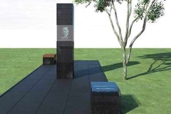 Takto by mal vyzerať pomník Martinovi Rázusovi, ktorý chcú odhaliť už v októbri v Bratislave.