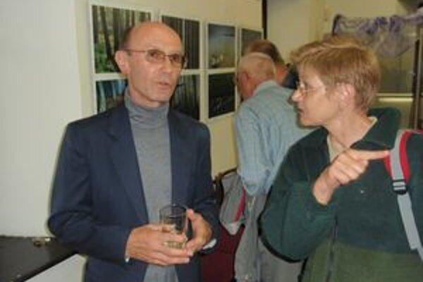 Zdeno Kostka (vľavo) prvýkrát vystavuje aj v Liptove.