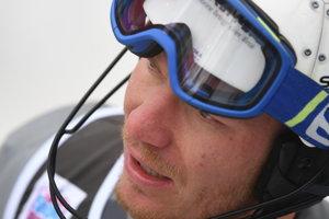 Na snímke slovenský lyžiar Adam Žampa reaguje v cieli 1. kola slalomu Svetového pohára v alpskom lyžovaní v Záhrebe 6. januára 2019.