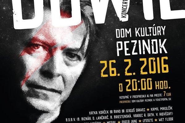 Na podujatí David Bowie Tribute vystúpi trinásť kapiel.